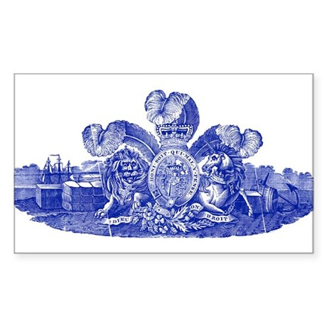 Great Britain Coat of Arms Sticker (Rectangle)