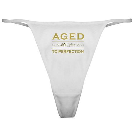 Stylish 40th Birthday Classic Thong