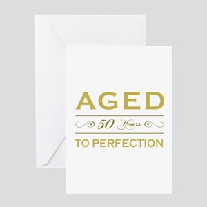 Stylish 50th Birthday Greeting Card