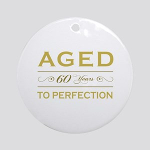 Stylish 60th Birthday Ornament (Round)
