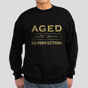 Stylish 70th Birthday Sweatshirt (dark)