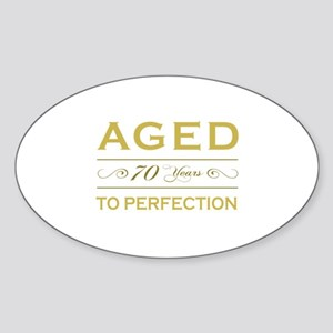 Stylish 70th Birthday Oval Sticker