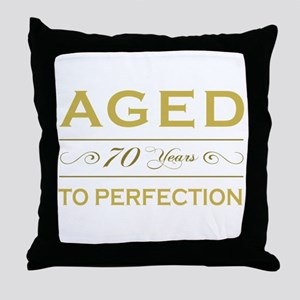 Stylish 70th Birthday Throw Pillow