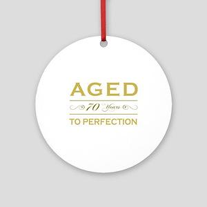 Stylish 70th Birthday Ornament (Round)