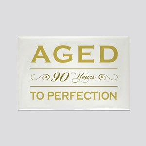 Stylish 90th Birthday Rectangle Magnet