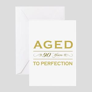 Stylish 90th Birthday Greeting Card