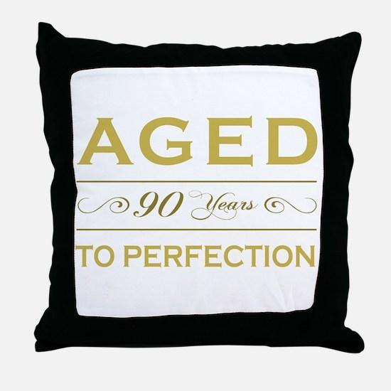 Stylish 90th Birthday Throw Pillow