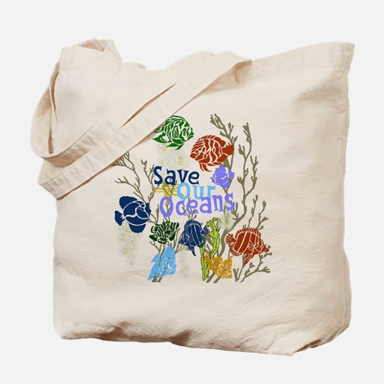 Save our Oceans Reusable Canvas Tote Bag