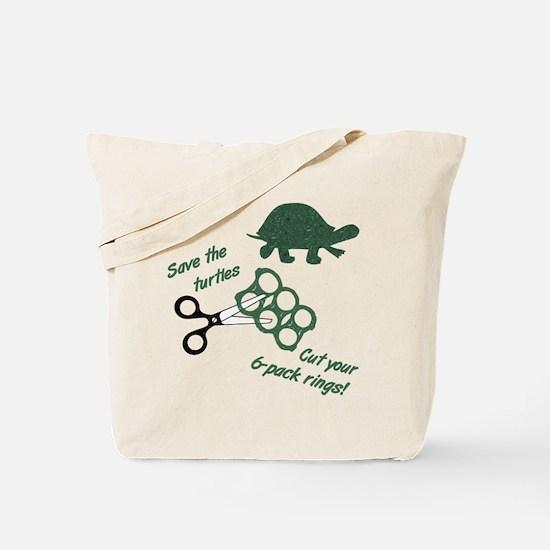 Save the Turtles Reusable Tote Bag