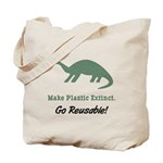 Make Plastic Extinct Go Reusable Tote Bag