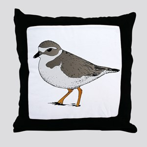 Piping Plover Throw Pillow