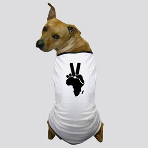 Africa Peace Sign Dog T-Shirt