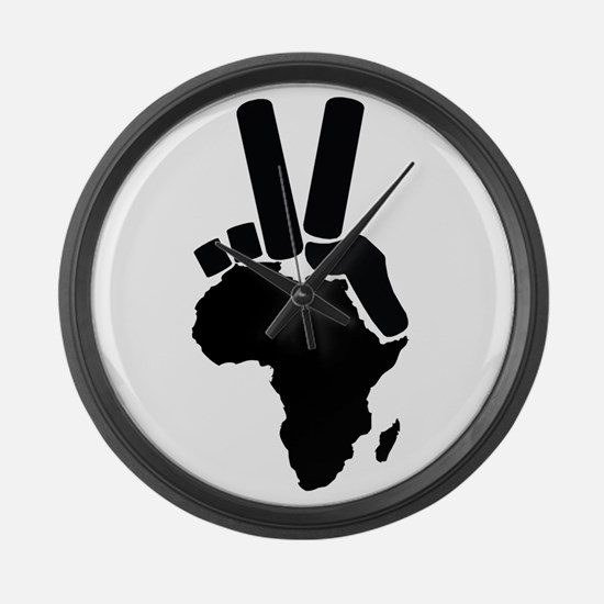 Africa Peace Sign Large Wall Clock
