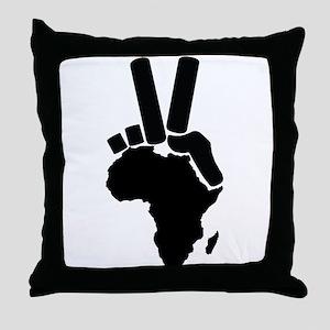 Africa Peace Sign Throw Pillow