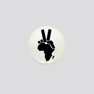 Africa Peace Sign Mini Button