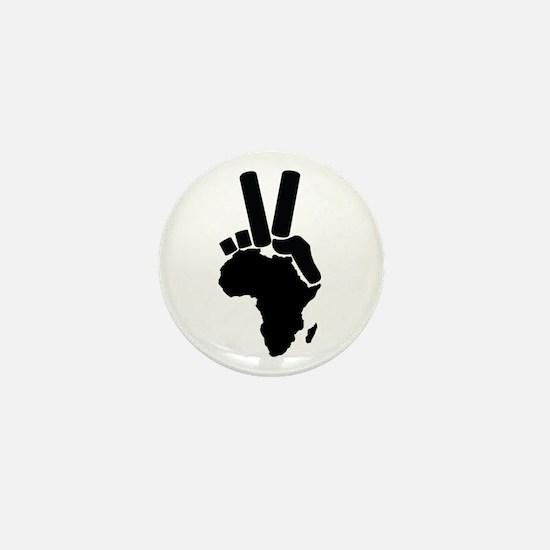Africa Peace Sign Mini Button