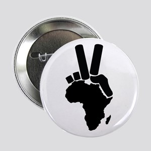 """Africa Peace Sign 2.25"""" Button"""