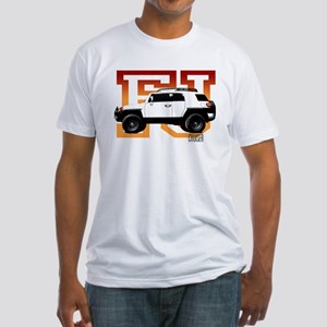 FJ Cruiser Red-Orange Fitted T-Shirt