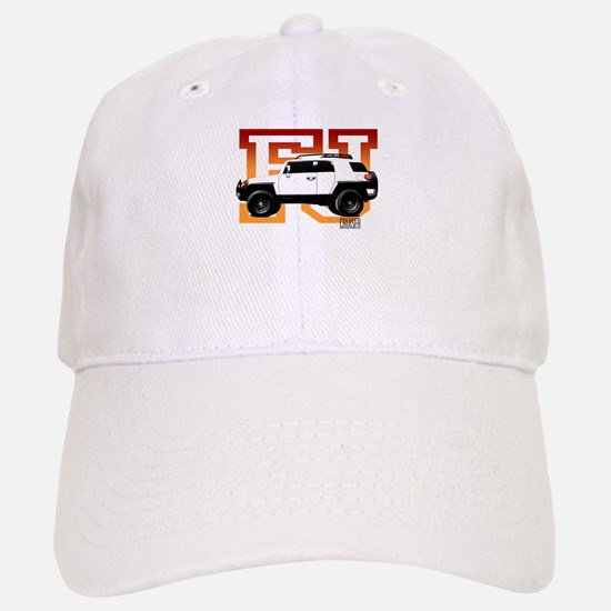 FJ Cruiser Red-Orange Baseball Baseball Cap