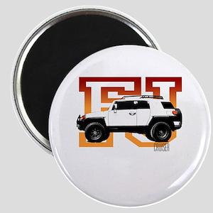 FJ Cruiser Red-Orange Magnet