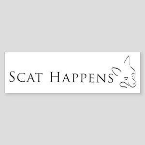 Scat Happens! Bumper Sticker