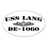 USS LANG Sticker (Oval)