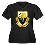 USS LANG Women's Plus Size V-Neck Dark T-Shirt