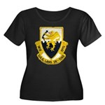 USS LANG Women's Plus Size Scoop Neck Dark T-Shirt