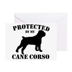 Protected by my Cane Corso Greeting Cards (Pk of 2