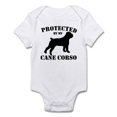 Protected by my Cane Corso Infant Bodysuit
