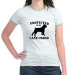 Protected by my Cane Corso Jr. Ringer T-Shirt