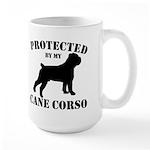 Protected by my Cane Corso Large Mug