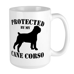 Protected by my Cane Corso Large Mug