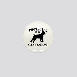 Protected by my Cane Corso Mini Button