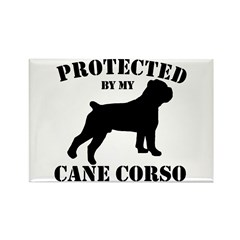 Protected by my Cane Corso Rectangle Magnet