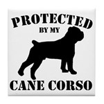 Protected by my Cane Corso Tile Coaster
