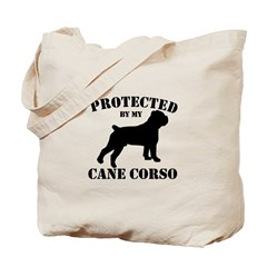 Protected by my Cane Corso Tote Bag
