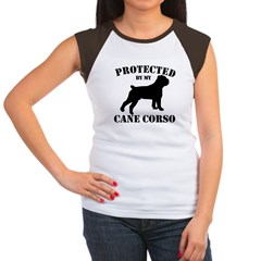 Protected by my Cane Corso Women's Cap Sleeve T-Sh