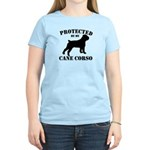 Protected by my Cane Corso Women's Light T-Shirt