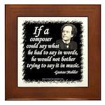 Mahler on Composing Framed Tile