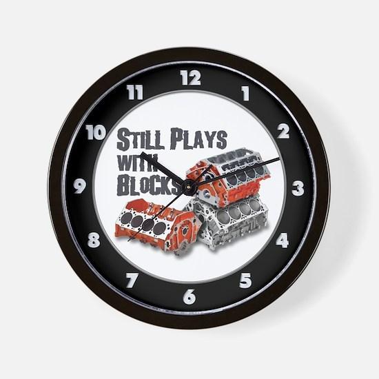 Still Plays With Blocks Wall Clock