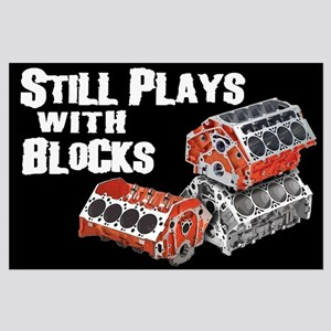 Still Plays With Blocks Large Poster