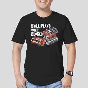 Still Plays With Blocks Men's Fitted T-Shirt (dark