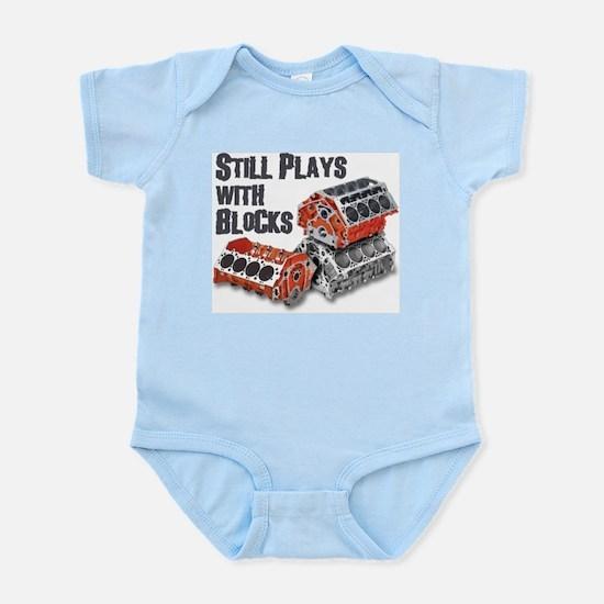 Still Plays With Blocks Infant Bodysuit