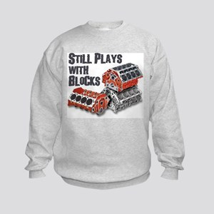 Still Plays With Blocks Kids Sweatshirt