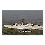 USS LANG Sticker (Rectangle 10 pk)
