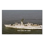 USS LANG Sticker (Rectangle)