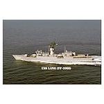 USS LANG Large Poster