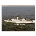 USS LANG Small Poster
