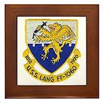 USS LANG Framed Tile